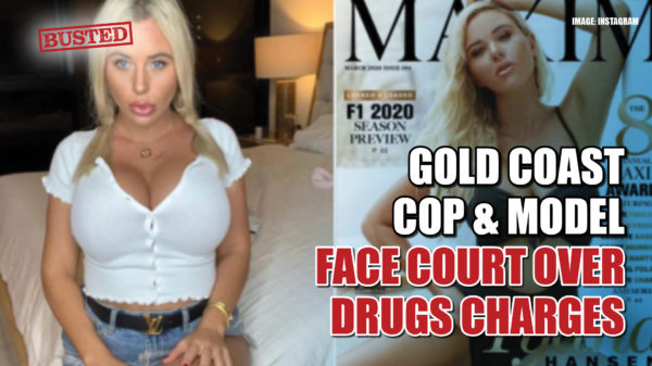 Gold Coast cop, model face court over drugs charges after party bugged by police