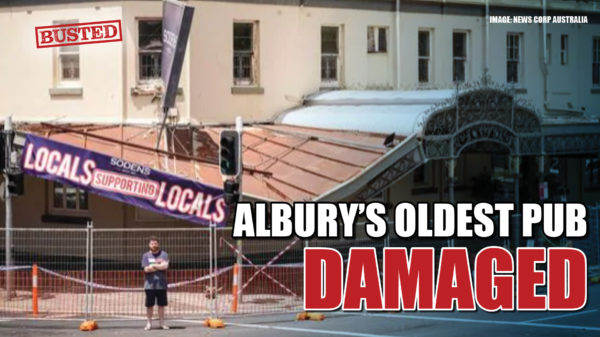 'Hoon' driver allegedly causes $200,000 damage to Albury's oldest pub