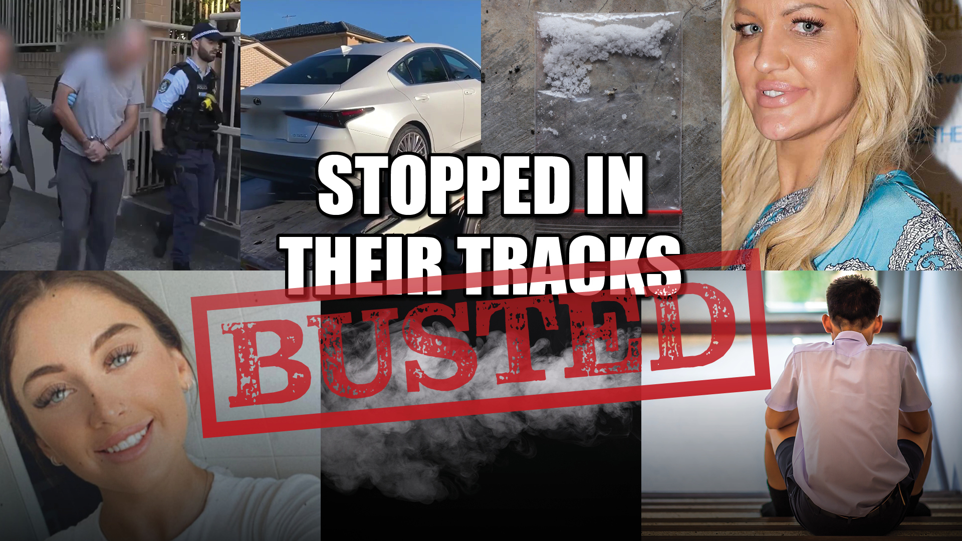 This week on BUSTED we are looking at the more smuggling of illicit products, whether it is meth or illicit tobacco. We also have some d-grade celebrities you might recognise charged with serious drug trafficking crimes. And some unfortunate stories involving children abusing nicotine and alcohol.